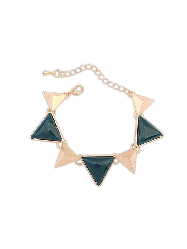 Oeste Retro Punk Geometry Triangle Bracelets