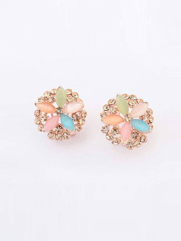 Oeste De moda Five Flores Exquisito Ear Clip