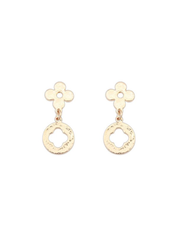 Oeste Sencillo All-match Leaf clover Aretes