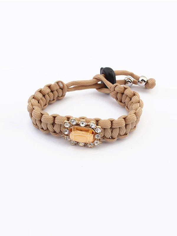 Oeste All-match Woven Concise Bracelets